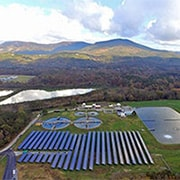 Aerial photo of the Chatsworth Water Works Commission solar project in Chatsworth, Ga.